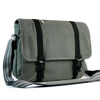 Kroo 13.3 inch Canvas Laptop Messenger Bag