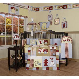 Fire Truck 13 piece Crib Bedding Set