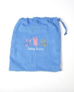 EMBROIDERED BATHING BEAUTY BLUE BEACH BATHING SUIT