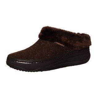 Skechers USA Womens Tone ups Chalet Black Diamond Sweater Clogs