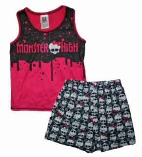 Monster High Logo and Skulls Tank Top Girls Sleep Set (XL