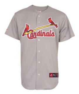 MLB Mens St Louis Cardinals Road Replica Jersey, Grey, S