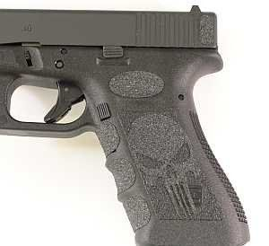 Black Punisher Grips for Glock 19,23,25,32,38: Sports