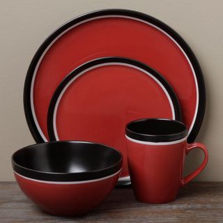 Tabletops Unlimited Argentina Red 16 piece Dinnerware Set