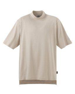 Adidas Mens Short Sleeve Turtleneck Golf Shirt, Dune
