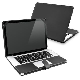 Black Leather Case for Apple MacBook Pro 13 inch