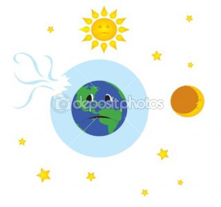 Earth with broken ozone layer  Stock Vector © cristi180884 #1963251