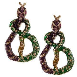 Betsey Johnson Snake Wrap Stud Earrings