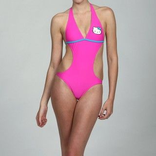 Hello Kitty Junior Girls One piece Halter Top Swimsuit