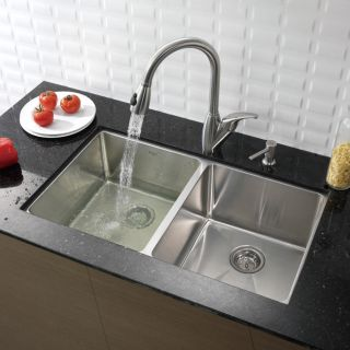 Kraus 33 inch Undermount Stainless Steel Kitchen Sink and Faucet