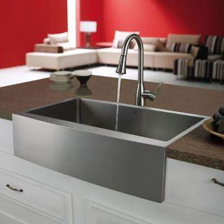 Vigo Farmhouse 33 inch Stainless Steel Kitchen Sink and Single hole