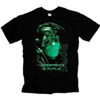 Star Trek Resistance Is Futile Borg T Shirt: Clothing