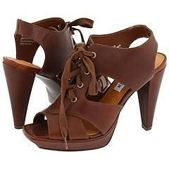Steve Madden Destine Brown Leather Sandals