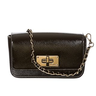 Prada Vernice Saffiano Convertible Cross body Bag