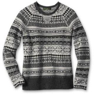 Eddie Bauer Fair Isle Sweatshirt Sweater, Gray M Petite