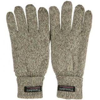 Suede Leather Palm Tinsulated Wool Glove   Oatmeal W21S41D