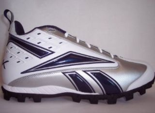 Reebok Pro Thorpe II Mid At Cleats Football Shoes 14 White Navy: Shoes