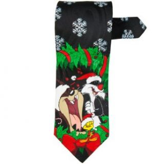 Looney Tunes   Christmas Wreath Necktie Clothing