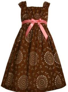Bonnie Jean Girls 7 16 Sleeveless Brown Eyelet Dress,Brown