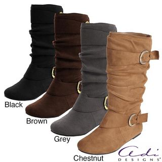 Glaze by Adi Womens Faux Suede Slouchy Boot