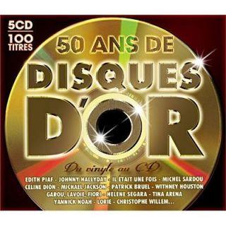 50 ANS DE DISQUES DOR   Compilation   Achat CD COMPILATION pas cher