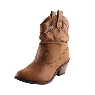 Refresh by Beston Womens Makay 01 Tan Boots