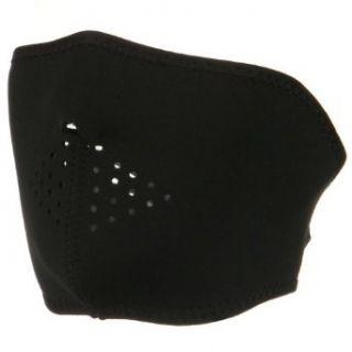 Oversized Neoprene Half Face Mask   Black W11S18A