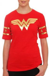 DC Comics Wonder Woman Gold Foil Hockey Girls T Shirt