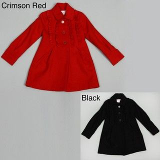 Jessica Simpson Big Girls Ruffle front Coat FINAL SALE