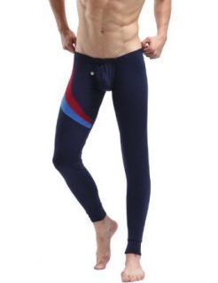Mens Long John Thermal Underwear Pants Navy 6028 Clothing
