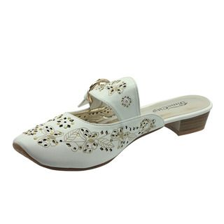 DimeCity Womens Lucie Metallic Embroidered Slip on Shoes