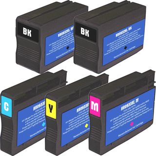 HP 932XL 933XL Black Colors Ink Cartridge Pack of 5 (Remanufactured