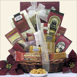 Peace & Prosperity Small Christmas Holiday Chocolate Gift Basket