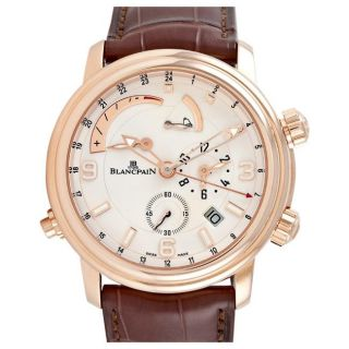Blancpain Leman Mens Rose Gold GMT Automatic Watch
