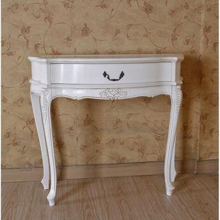 International Caravan Antique White Carved Table