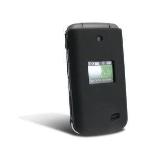 Black Snap on Rubber Coated Case for LG VX5500