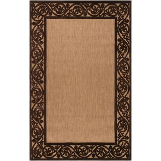 Garden View Tan and Brown Olefin Rug (75 x 106)