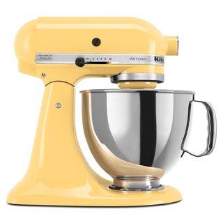KitchenAid KSM150PSMY Majestic Yellow 5 quart Artisan Tilt Head Stand