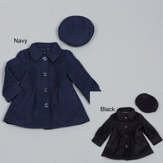 London Fog Toddler Girls Wool Coat with Hat FINAL SALE