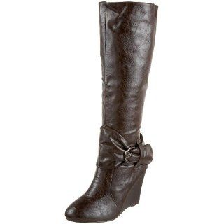 Miss Me Womens Hallie 6 Wedge Boot,Brown,6.5 M US Shoes