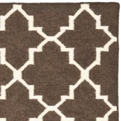 Morocco Light Brown/ Ivory Dhurrie Wool Rug (4 x 6)