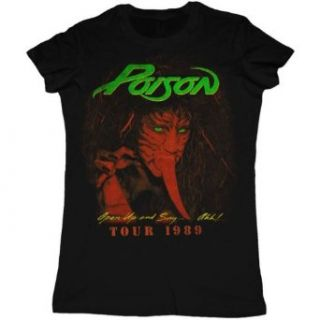 Poison   Open Up and Say Ah Juniors Babydoll T Shirt , XL