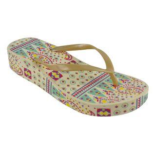 Muk Luks Womens Wedge Flip flops