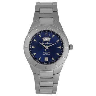 Jules Jurgensen Mens Classic Blue Dial Watch