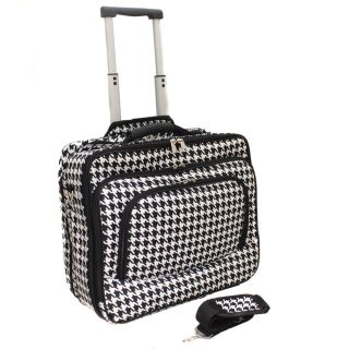 Fashion Print Womens Rolling 17 inch Laptop Briefcase