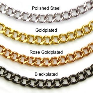 High polish Stainless Steel Large 30 inch Curb chain Necklace