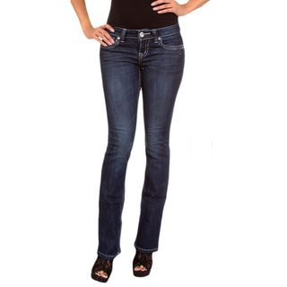 Stanzino Womens Dark Blue Denim Boot Cut Jeans