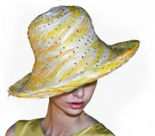 Van Gogh Feathered Womens Couture Hat Clothing