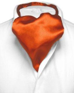 Biagio ASCOT Solid BURNT ORANGE Color Cravat Mens Neck