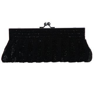 Carlo Fellini Teresa Beaded Black Evening Bag